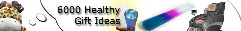 Healthy gifts - massagers, mist lamps, salt lamps, foot file, tissue box cover, bath mitts, slippers